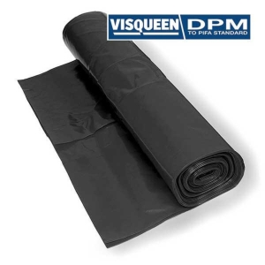 VISQUEEN DAMP PROOFMEMBRANE 1200 GAUGE 300 MICRON BLACK