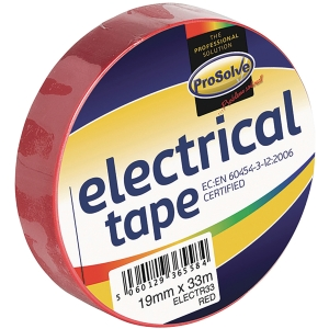 ROLL ELECTRICAL INSULATIONTAPE 19MM 33MTR RED