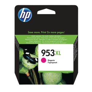 HP 953XL HIGH YIELD MAGENTA ORIGINAL INK CARTRIDGE (F6U17AE)