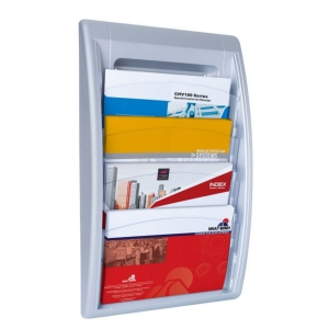 PAPERFLOW QUICK FIT WALL DISPLAY 4X 24X32CM ALUMINIUM