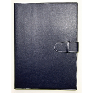COLLINS PADFOLIO WITH STRAP + A4 WIRO NOTEBOOK  305 X 219MM NAVY