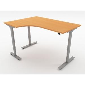 ASCEND SIT STAND RAD L/H DESK W1600 BCH