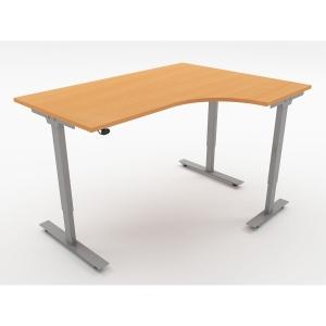 ASCEND SIT STAND RAD R/H DESK W1600 BCH