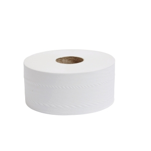 2 PLY 62MMX200M MINI JUMBO TOILET ROLL - PACK OF 12