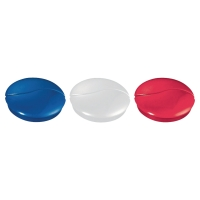 LYRECO ASSORTED COLOUR MAGNETS 27MM (HOLD 9 SHEETS) - PACK OF 6