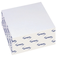 LYRECO WHITE STICKY PAPER CUBE 76 X 76MM - 440 SHEETS