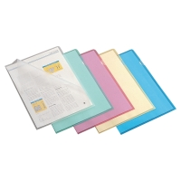 LYRECO ASSORTED A4 CUT FLUSH PLASTIC FOLDERS 110 MICRONS - PACK OF 100