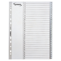 LYRECO GREY A4 POLYPROPYLENE 1-31 INDEXES