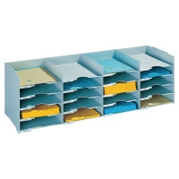 PAPERFLOW STACKABLE HORIZONTAL ORGANISER GREY