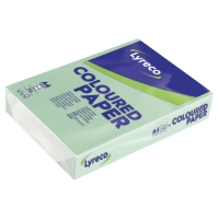 LYRECO PASTEL TINTED GREEN A4 PAPER 80GSM - PACK OF 1 REAM (500 SHEETS)