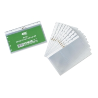 ADOC A5 BUSINESS CARD FILE REFILLS - PACK OF 10