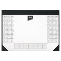 LYRECO DESK MAT 600 X 400MM - HOLDS 25 SHEET PAPER PAD WITH PRINTED CALENDAR