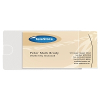 3L 60 X 95MM SELF-ADHESIVE BUSINESS CARD POCKETS - PACK OF 10