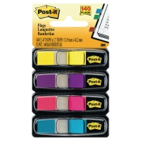 3M 683-4AB POST-IT INDEX 12 X 44 MM 4 ASSORTED COLOURS - PACK OF 4