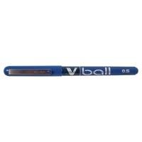 PILOT V-BALL ROLLER BALL BLUE PENS 0.3MM LINE WIDTH - BOX OF 12