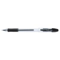 LYRECO GRIP GEL INK BLACK PENS 0.5MM LINE WIDTH - BOX OF 12