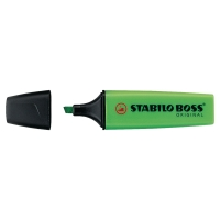STABILO BOSS GREEN HIGHLIGHTERS - BOX OF 10