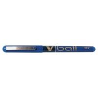 PILOT V-BALL ROLLER BALL BLUE PENS 0.5MM LINE WIDTH - BOX OF 12