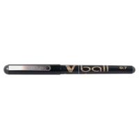 PILOT V-BALL ROLLER BALL BLACK PENS 0.5MM LINE WIDTH - BOX OF 12