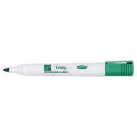LYRECO BULLET TIP GREEN WHITEBOARD MARKERS - BOX OF 10