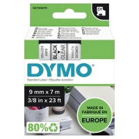 DYMO D1 LABELLING TAPE 7M X 9MM - BLACK ON CLEAR