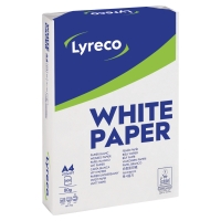 LYRECO WHITE A4 PAPER 80GSM - BOX OF 5 REAMS (5 X 500 SHEETS OF PAPER)