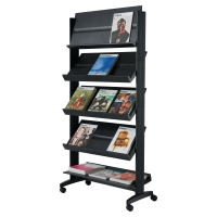 FREE STANDING LITERATURE HOLDER DISPLAY STAND - 15 SHELVES FOR A4 DOCUMENTS