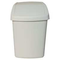 ECO WHITE 10 LITRE SWING WASTE BIN