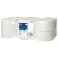 TORK T2 WHITE MINI 2 PLY JUMBO TOILET ROLL 170M - PACK OF 12
