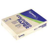 LYRECO PASTEL TINTED CREAM A4 PAPER 80GSM - PACK OF 1 REAM (500 SHEETS)