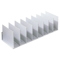 VERTICAL ORGANISER WITH 10 ADJUSTABLE SEPARATORS 210 X 800 X 275MM - LIGHT GREY