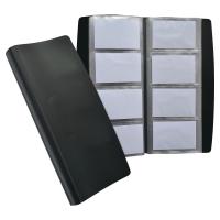 ELBA BLACK 140 X 275MM HEAVY-DUTY PVC BUSINESS CARD BOOK