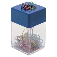 PAPER CLIP DISPENSER WITH MAGNETIC RIM - 70 X 43 X 43MM