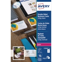 AVERY C32016-25 QUICK & CLEAN LASER/SATIN FINISH BUSINESS CARDS - PACK OF 25