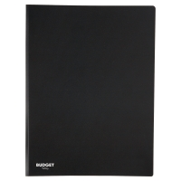 LYRECO BUDGET BLACK A4 20 POCKET SOFT COVER DISPLAY BOOK