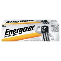 ENERGIZER INDUSTRIAL ALKALINE BATTERIES LR20/D - PACK OF 12