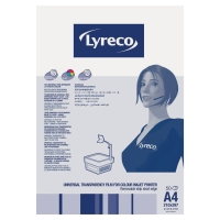 LYRECO UNIVERSAL A4 INKJET PRINTER FILM - PACK OF 50 SHEETS