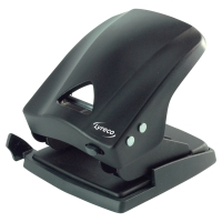 LYRECO 2 HOLE PUNCH BLACK - 40 SHEET CAPACITY