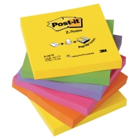 3M POST-IT Z POP-UP NOTES NEON RAINBOW 76X76MM - PACK 6