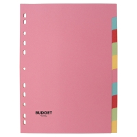 LYRECO BUDGET ASSORTED COLOUR A4 10 PART DIVIDERS 160GSM