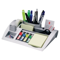 3M SILVER DESKTOP ORGANISER WITH POST-IT NOTES AND INDEXES