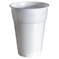 DUNI WHITE PLASTIC CUPS 210ML - BOX OF 100