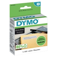 DYMO RETURN ADDRESS LABELS 25 X 54 MM WHITE - PACK OF 500