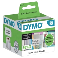 DYMO 11354 LABEL 57 X 32 MM WHITE - PACK OF 1000