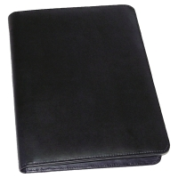 MONOLITH EXECUTIVE LEATHER ZIPPED FOLDER BLACK