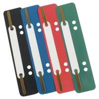ASSORTED COLOURS PLASTIC FILING CLIPS 35MM CAPACITY - PACK OF 100