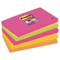 POST-IT SUPER STICKY NOTES NEON RAINBOW 76X127MM 5 PAD PACK (90 SHEETS PER PAD)