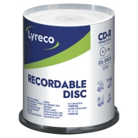 LYRECO CD-R 80MIN/700MB - SPINDLE OF 100