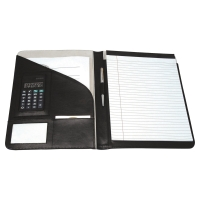 MONOLITH LEATHER CONFERENCE FOLDER BLACK