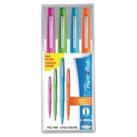 PAPERMATE FLAIR PEN ASSORTED COLOURS - WALLET OF 4